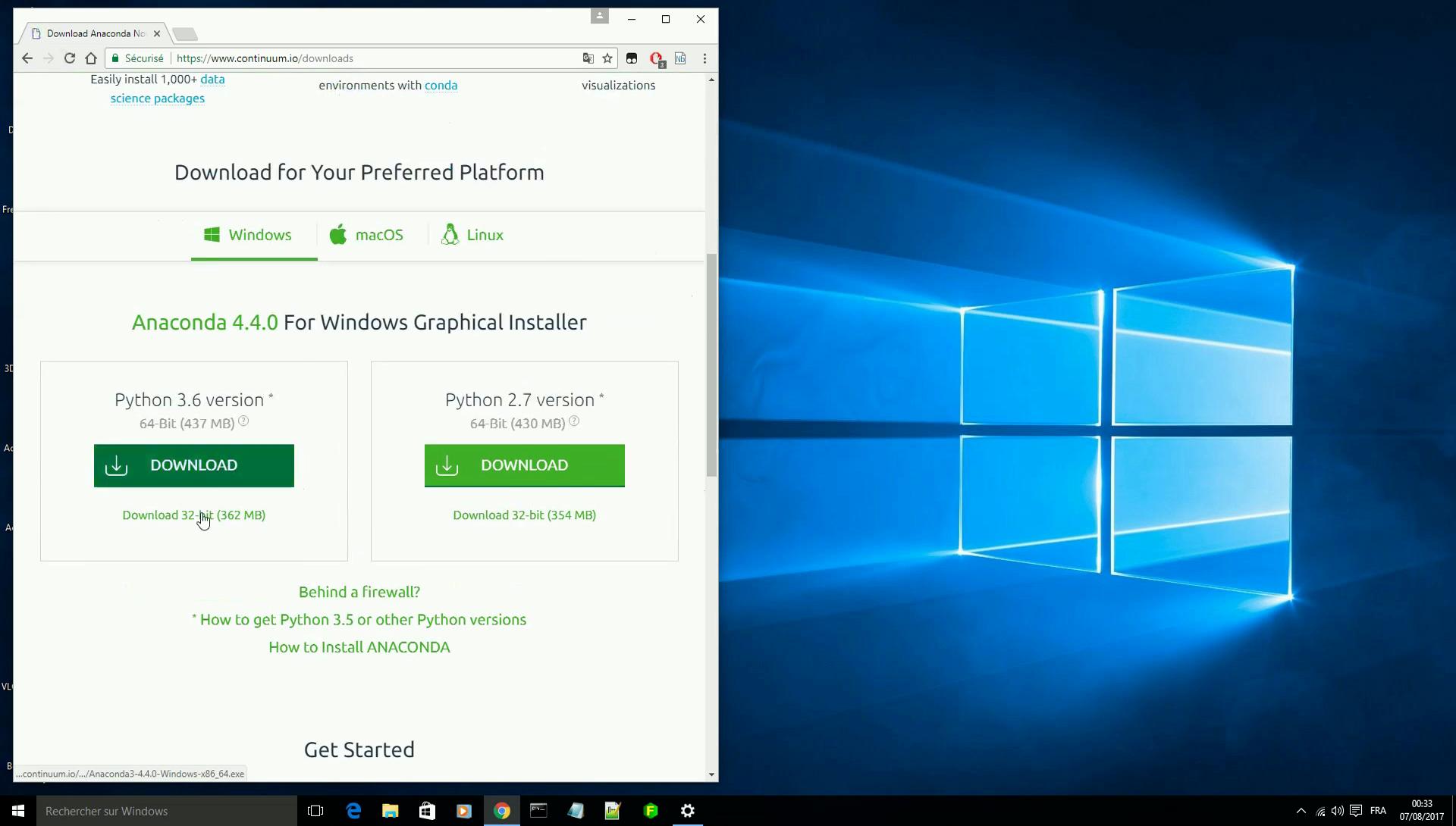 Vidéo Annexe 1 : Jupyter : installer Anaconda Windows 10 — Documentation